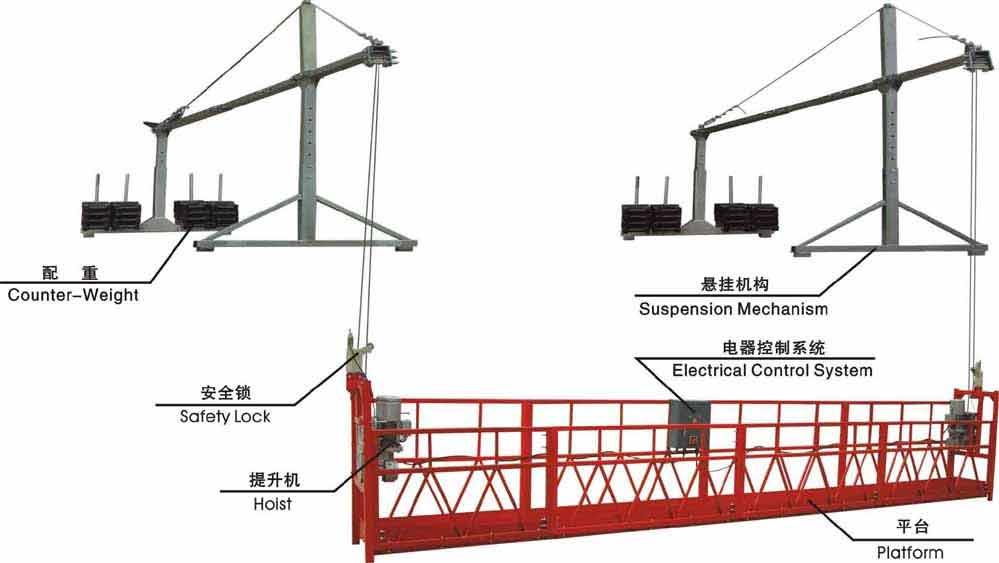 吊篮施工平面布置图